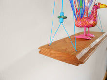 Load image into Gallery viewer, Ash Swing Shelf with Beading + Hemp Twine