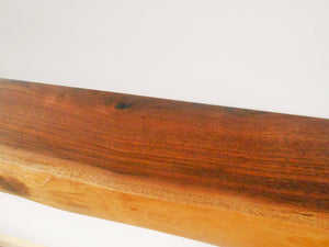 Live Edge Black Walnut Floating Shelf