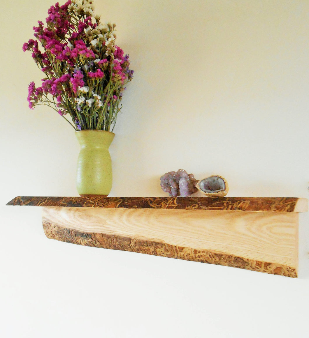 Live Edge Ash Shelf