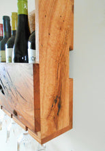 Load image into Gallery viewer, Rustic Oak Wine Rack - 5 Bottle Rack