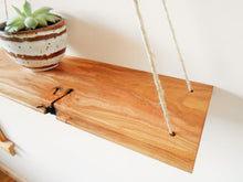 Load image into Gallery viewer, Rustic Ash Swing Shelf with Hemp Cord