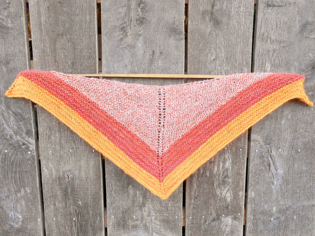 Hand-dyed Mohair Shawl - Hand-spun