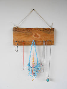 Cherry Wood Jewelry Organizer with Hemp Twine