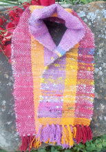 Load image into Gallery viewer, Handwoven Wool and Cotton Chenille Scarf