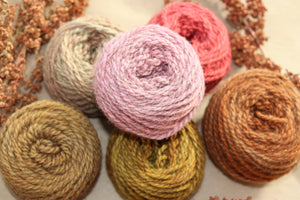 Rustic Rose Yarn Colorway - 2ply Hand-dyed Yarn