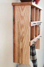 Load image into Gallery viewer, Red Oak Shelf and Coat Rack Duo with Cubbies