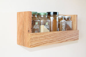 Red Oak Spice Rack