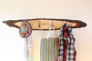 Live Edge Cherry Coat Rack