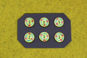 Ceramic Buttons - Chartreuse