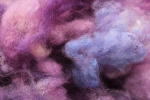 Hand-dyed Border Leicester Wool - Picked and Dyed Wool - 1 OZ