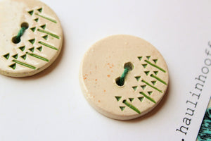 Ceramic Woodland Buttons - Forest