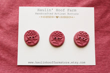 Load image into Gallery viewer, Ceramic Rose Buttons - Pink/Mauve
