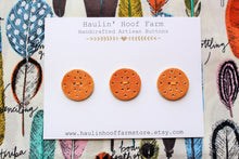 Load image into Gallery viewer, Round Ceramic Buttons - Brown - Burnt Orange