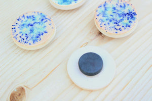 Ceramic Magnet Set -White/Blue