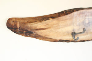 Live Edge Walnut Coat Rack - Fish Shape