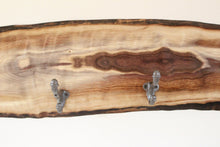 Load image into Gallery viewer, Live Edge Walnut Coat Rack - Fish Shape
