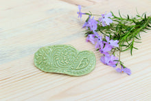 Load image into Gallery viewer, Ceramic Barrette-Green/Sage