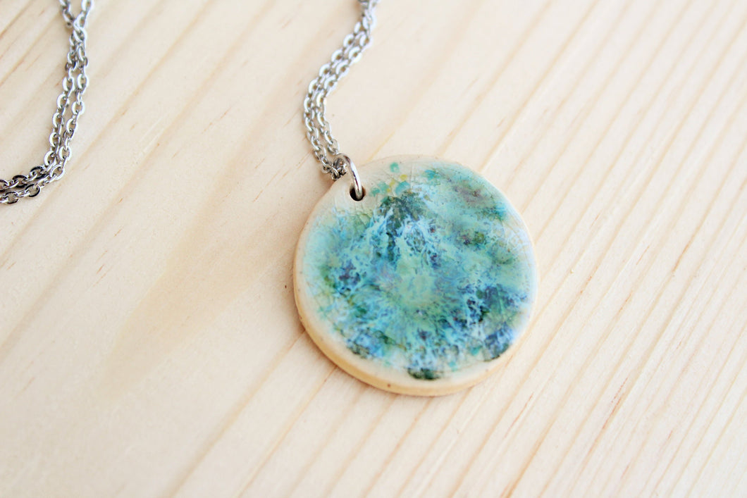 Ceramic Necklace - Blues