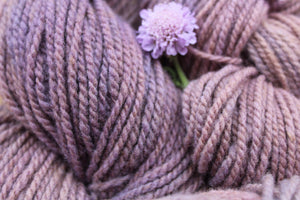 Hand-dyed Moorit Merino Yarn - DK Weight - Light Purple