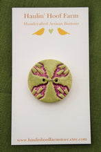 Load image into Gallery viewer, Decorative Ceramic Button - Purple/Green