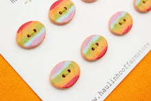 Load image into Gallery viewer, Oval Ceramic Buttons - Rainbow