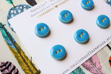 Load image into Gallery viewer, Round Ceramic Buttons - Turquoise