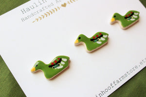 Ceramic Duck Buttons