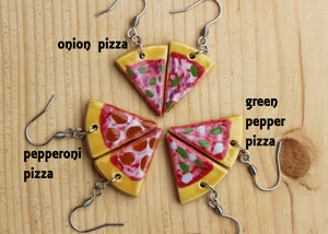 Ceramic Pizza Earrings