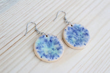 Load image into Gallery viewer, Blue Ceramic Crystallite Earrings