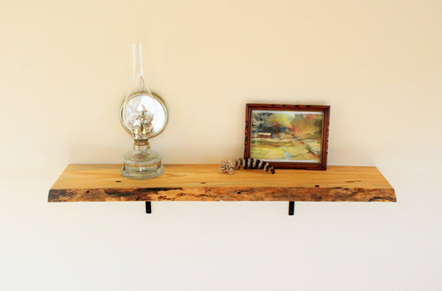 Live Edge Blued Pine Shelf