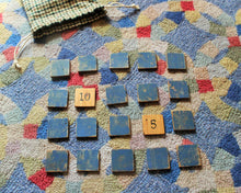 Load image into Gallery viewer, Wooden Number Match Game with Wool Drawstring Bag