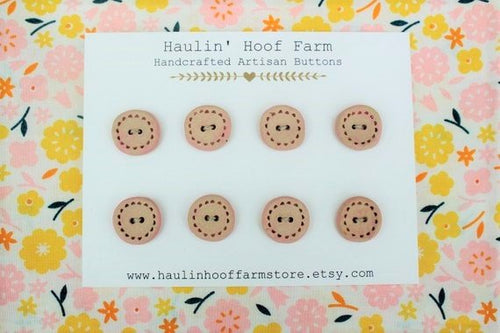 Round Ceramic Buttons - Soft Pink - Matte Finish