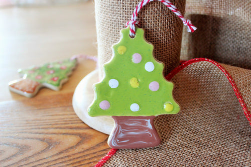 Christmas Tree Ornament - Dots