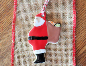 Ceramic Santa Claus Ornament