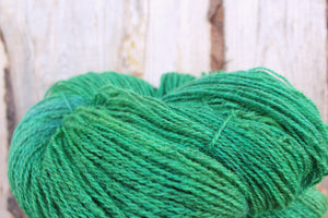 Hand dyed Sport Weight Yarn - Kelly Green + Blue