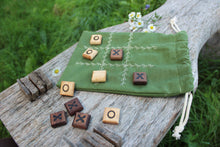 Load image into Gallery viewer, Tic-tac-toe Travel Game with Organic Cotton Bag