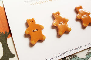 Ceramic Teddy Bear Buttons - Brown Bears