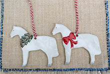 Load image into Gallery viewer, Horse Ornaments - White Ceramic Horses