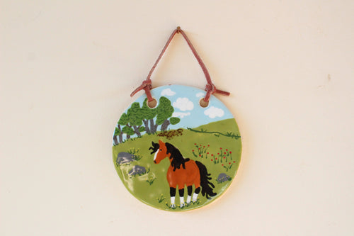 Horse Wall Art - Ceramic Horse Painting