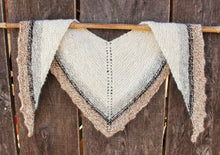 Load image into Gallery viewer, Hand Knit & Hand Spun Alpaca Shawl - Natural Colored