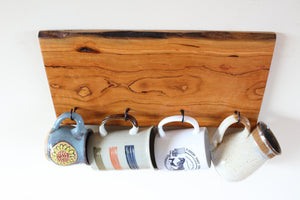 Live Edge Cherry Mug Rack