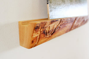 Live Edge Ash Record Ledge