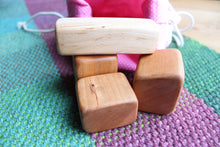 Load image into Gallery viewer, Natural Teething Blocks for Baby-Maple + Cherry