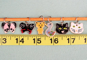 Knitting Stitch Markers - Set of 6 - Animals