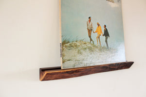 Live Edge Black Walnut Record + Photo Ledge