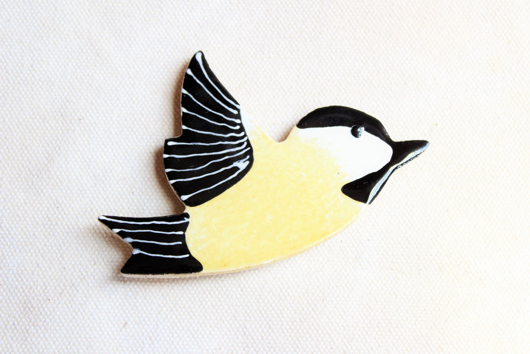 Black Capped Chickadee Magnet - Bird Magnet