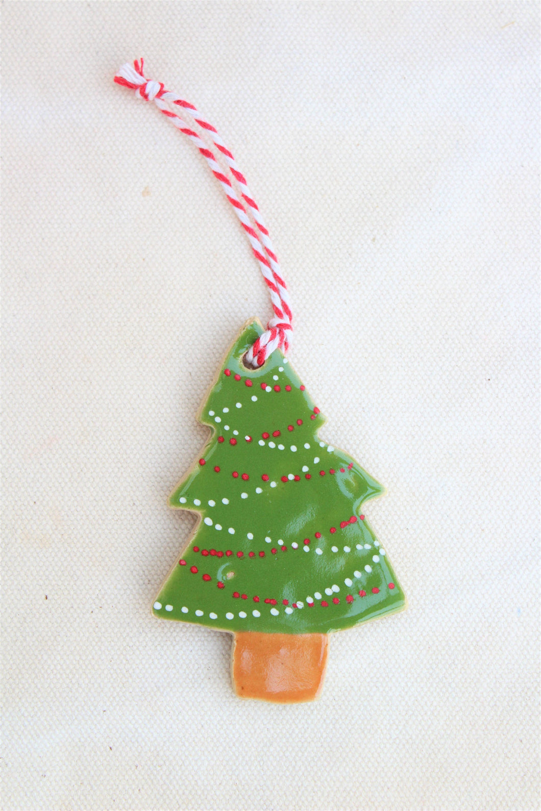 Christmas Ornament - Ceramic Tree with Lights