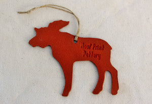 Moose Ornament - Ceramic Moose Ornament