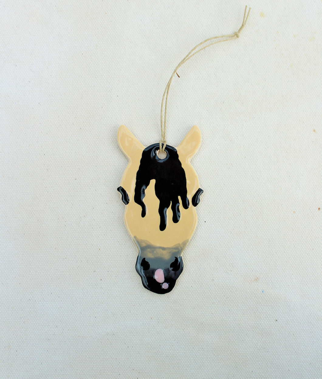 Tan + Black Horse Ornament - Hand Painted Horse Ornament (7)