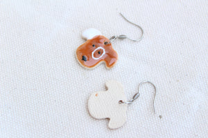 Dog Earrings - Little Dog Earrings - Cute Dog Earrings - Ceramic Dogs - Puppy Dog Earrings - Handcrafted Artistic Earrings